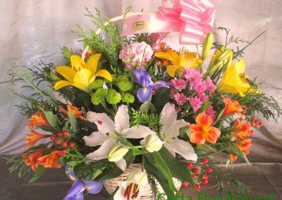 cesta flor natural